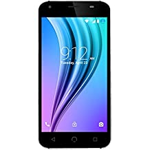 """NUU Mobile X4 5.0"""" HD LTE Unlocked Android Lollipop Smartphone with 2YR Warranty, Black"""