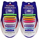 ETROL Quick Tie Shoe Laces for Adults and Kids - Best in Sports Fan Shoelaces - 32 Slip On Elastic Waterproof Silicone…