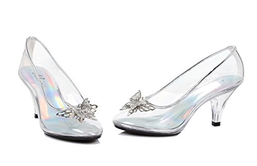 Glass Slipper Cinderella Costumes (Ellie Shoes Women's 305-Cinder Dress Pump, Clear, 8 B Us)