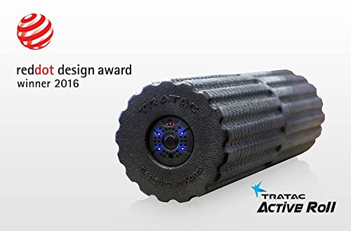 TRATAC ACTIVE ROLL - High Intensity Vibration Foam Roller - New generation of Vibration (Black)