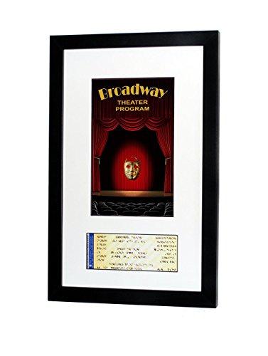 Ticket Wall (Broadway Playbill Ticket Frame (Program - Ticket, Satin Black- White Mat))