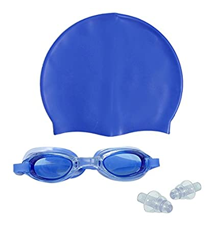 0d68dd8a1139 Sports Hour Swimming Cap With Swimming Goggle (Blue)
