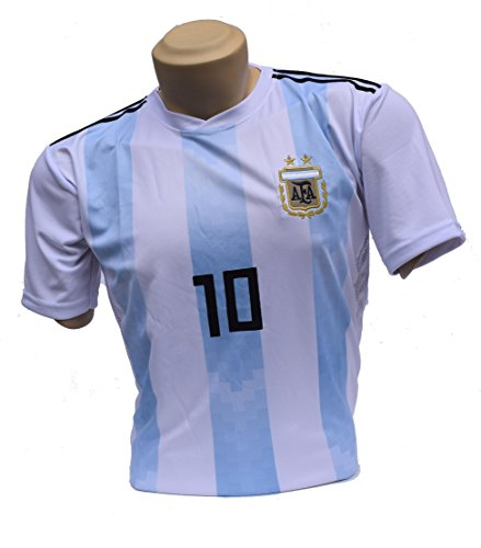 ARGENTINA Soccer Jerseys for 2018 Russia Worldcup National Team ,Sizes L   Support Your Team during Soccer World Championship (L) - Exclusive Edition Ship Model