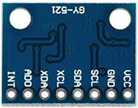 Nero Modulo giroscopio 3V-5v 2.54mm integrato Convertitore AD a 16 bit GY-521 Modulo 6 DOF MPU-6050 Modulo giroscopio accelerometro a 3 assi