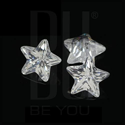Be You Blanc Zircone Cubique AAA Qualit/é 3x3 mm Diamant Coupe d/étoile Forme 100 pcs gemme