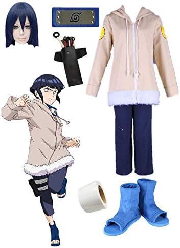 Amazon Com Us Size Hyuuga Hinata Halloween Anime Cosplay Costume 12 Years Old Full Suit Clothing