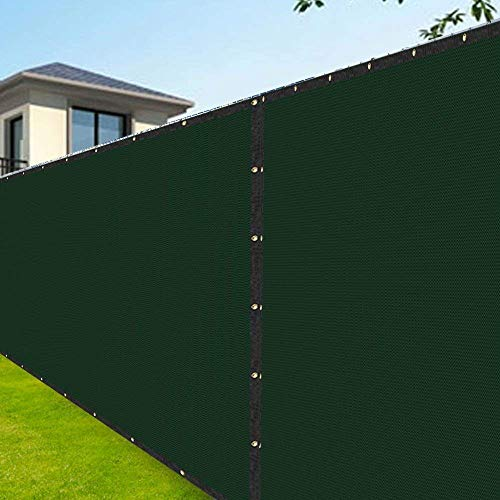 Amagabeli 8'x50' Fence Privacy Screen Heavy Duty for Chain Link Fence Fabric Screen with Brass Grommets Outdoor 8ft Garden Patio Construction Fencing 90% Blockage Shade Tarp Mesh UV Resistant Green (Head Mesh 8')