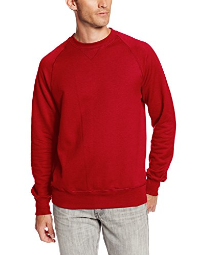 Hanes Men's Nano Premium Lightweight Fleece Sweatshirt, Vintage Red, Large ()
