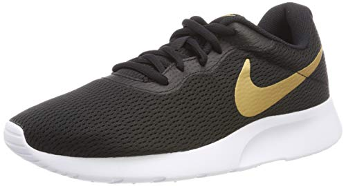 (Nike Men's Tanjun Shoe Black/Metallic Gold/White Size 9.5 M US)