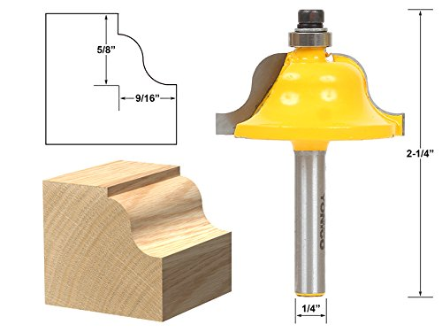 - Yonico 13184q Roman Ogee Edging and Molding Router Bit with Large 1/4