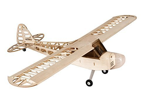 (Dancing Wings Hobby S0804B RC Airplane 4CH Radio Remote Controlled Electronic Aircraft Balsa Wood Plane Model Wingspan 1180mm J3 Kit + Power System + Covering)