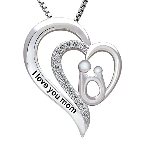 Mother's Day Gifts, 'I love you mom' Heart - Mother Daughter Birthday Gift