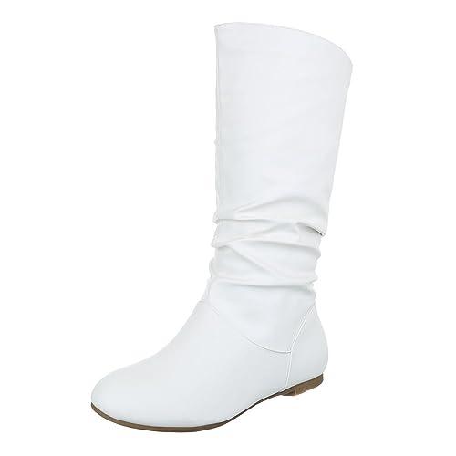 Komfortstiefel Damenschuhe Klassischer Stiefel Blockabsatz Leicht Gefütterte Ital-Design Stiefel