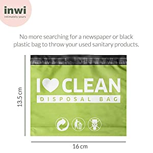 InWi Sanitary Disposal Bags for Disposal of Sanitary Pads, Sanitary Napkins, Tampons, Condoms and Feminine Hygiene Products - 75 Bags