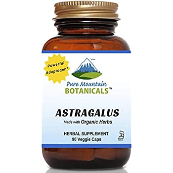Astragalus Root Capsules - 90 Kosher Vegetarian Caps - Now with 470mg Organic Astragalus Root Powder - Nature's Supreme Supplement for Energy & Immune Support
