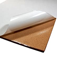 Cork Sheet with Adhesive 24In X 36In X 1/4In Thick