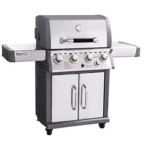 Royal Gourmet Deluxe Mirage 4-Burner Propane Gas Grill with Side Burner, Stainless Steel Royal Gourmet Corp