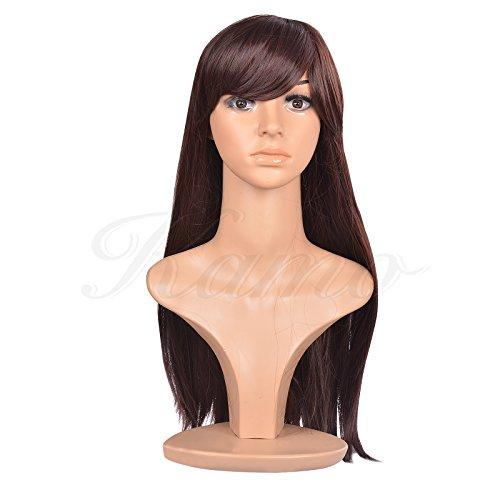 Kamo 55cm Chestnut Brown Supple Straight Heat Resistant Sythetic Hair Wig