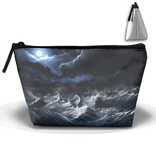 Cosmetic Bag with Zipper Halloween Silhouette Tree Toiletry/Travel Bag -