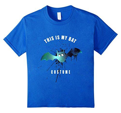 [Kids bat costume splash halloween cute bird T shirt 4 Royal Blue] (Cute Mother Daughter Halloween Costumes)
