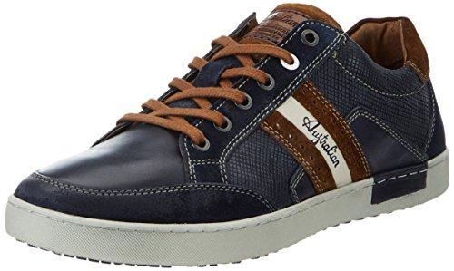 AustralianLombardo Leather - Sneakers Uomo Blu (Blue-tan)