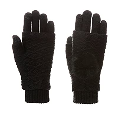 Velice Women's Cable Knit Screen Touch Gloves Winter Thick Warm Gloves