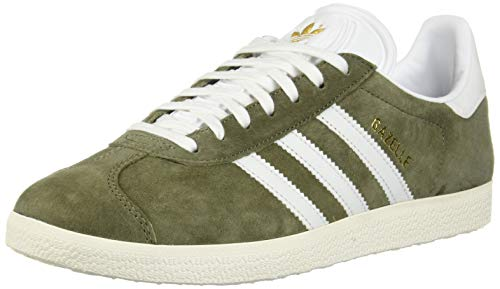 info for 70cce ab535 Adidas ORIGINALS Women s Gazelle Fashion Sneakers, Raw Khaki Footwear White Chalk  White,