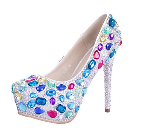 Miyoopark , Semelle compensée femme - Multicolore - Multicolor-14cm Heel, 35