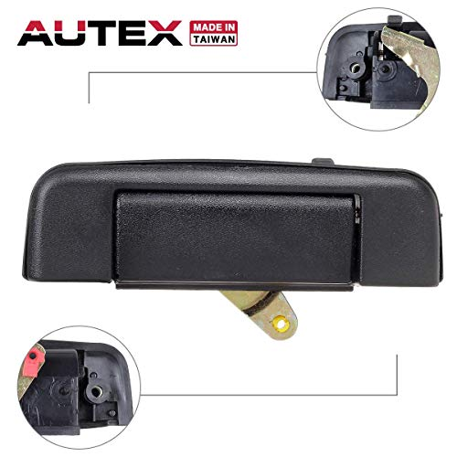 (AUTEX 1pcs Tailgate Lift Tail Gate Rear Latch Cargo Hatch Door Handle Compatible with Toyota Pickup 1989 1990 1991 1992 1993 1994 1995 77103, 69090-89102, 6909089102, TO1915101)