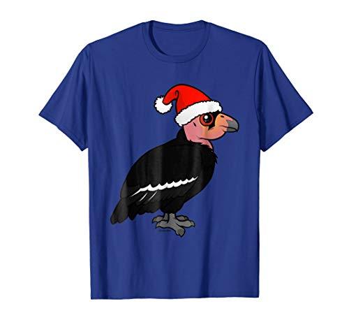 California Condor Christmas T-Shirt | Cute Cartoon Santa