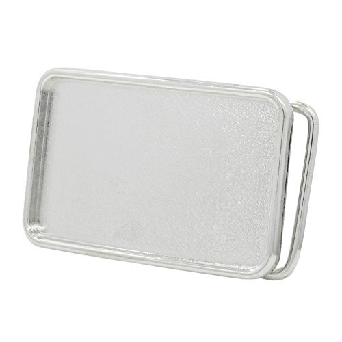 Mens Silver Belt Buckles (Buckle Rage Rectangle Blank Custom Belt Buckle Small)