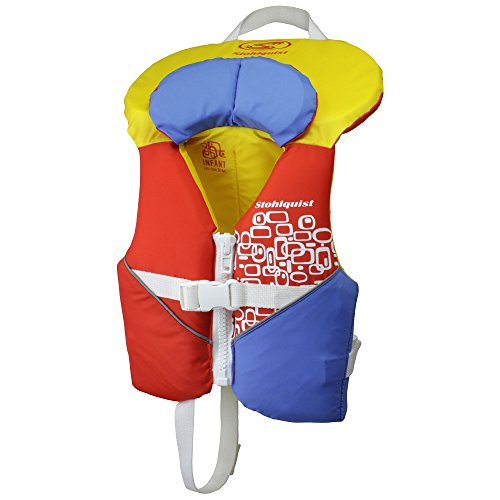 - Stohlquist Toddler Life Jacket Coast Guard Approved Life Vest for Infants-Orange/Yellow-Infant