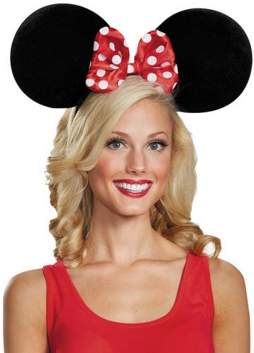 Minnie Mouse Oversize Ears Adult Accessory (Mouse Costume Women)
