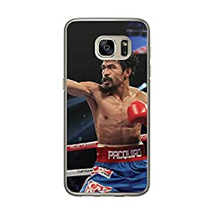 Loud Universe Samsung Galaxy S7 Pacquiao Pound For Pound Printed Transparent Edge Case - Multi Color