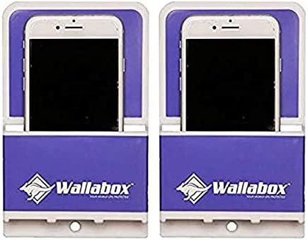 Wallabox Vivid Violet 2 Pack Universal Cell Phone Holders Wall Mount Fits All Iphone Android Phones Great For Bedroom Bathroom Office Car Charging Station