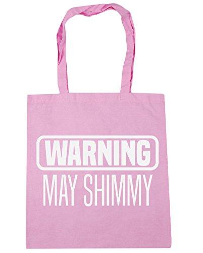 HippoWarehouse advertencia puede Shimmy Tote Compras Bolsa de playa 42cm x38cm, 10litros Classic Pink