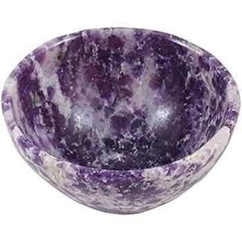 HARMONIZE Natural Lapidolite Stone Bowl Hand Carved Crystal Reiki Healing Energy Generator Gemstones