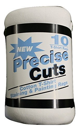 Precise Cuts Staining and Paint T Shirt Rags 14 x 16 inch (10 Count) Paint Rags