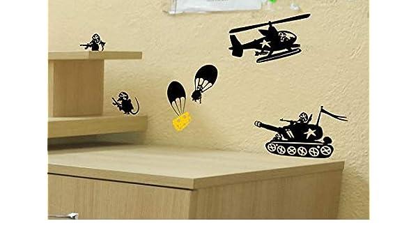 pegatinas de pared tortugas ninja Ratón tanque helicóptero ...
