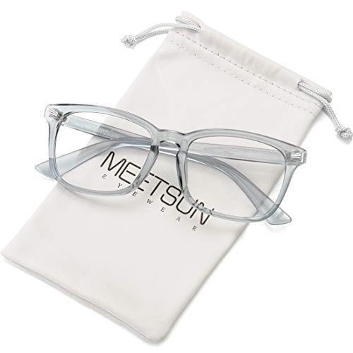 MEETSUN Anti Filter Blue Light Blocking Glasses Nerd Eyeglasses Frame, Computer Reading Gaming for Women Men Clear Lens