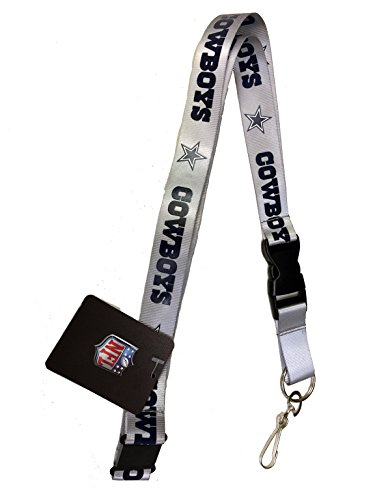 Silver Sport Ring (NFL Dallas Cowboys Sports Lanyard, Keychain, Gray/silver with Detachable Clip)