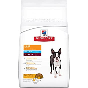 Hill's Science Diet Adult Light Small Bites  with Chicken Meal & Barley Dry Dog Food, 17.5-Pound Bag