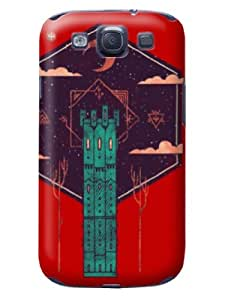 Case Cover Expert Durable Withtanding the Inspection So Cool Abstract Whimsy Creation Special Vivid Spectecular Red Hard Case For Samsung Galaxy S3