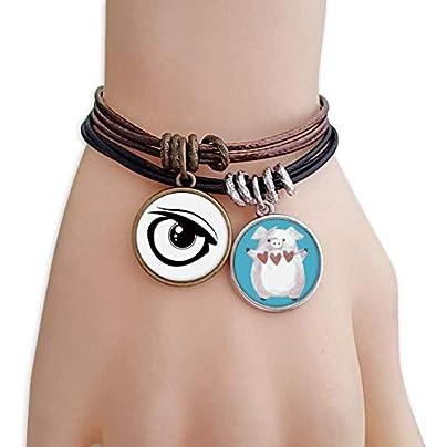 master DIY Vector Eye Decoration Black Pattern Bracelet Rope Wristband Pig Heart Love Set Estimated Price -