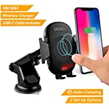 AVLT-Power Driver Friendly Car Phone Mount Holder 10W Qi Wireless Charger - Infrared Motion Sensor Auto Clamp Single Handed Operation – Smartphone Car Charging Accessories - Includes USB Type-C Cable