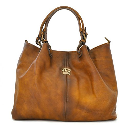 Hobo Italian Pratesi Handbag Bag Shoulder Bucket Leather Aged Brown TWPw1Hq