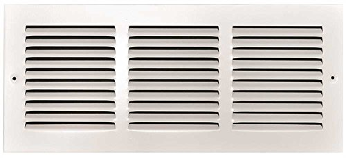 Truaire 190RF 24X14 Stamped Return Air Filter Grille, Removable Face, 24 In. X 14 In, White (Grille Face)