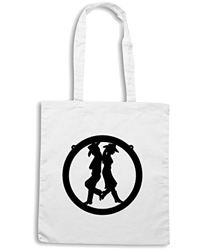 T-Shirtshock - Bolsa para la compra FUN1051 cowboy and cowgirl 42253 Blanco