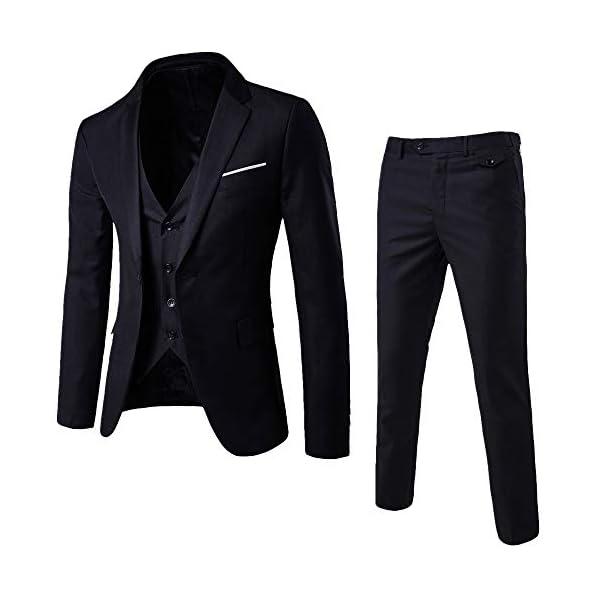 MORCHAN Costumes Slim Costume 3 pièces Blazer de soirée de Mariage Affaires Veste Veste et Pantalon