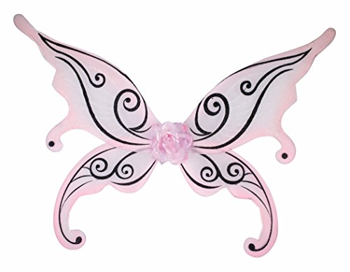 Forum Novelties 74724 Party Supplies Women's Fairy Wings, Pale Pink, Multi -
